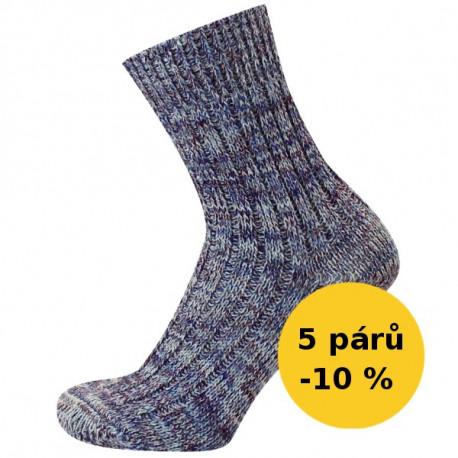 PRACOVNÍ - VÝHODNÉ BALENI 5 PÁRŮ - KAMIL   Economic - Výhodné balení 5 párů se slevou 10 %! Silné žebrové vlněné ponožky, s příjemným nesvíravým lemem. Oblíbené jako pracovní ponožky. Ponožky jsou jemně melírované.