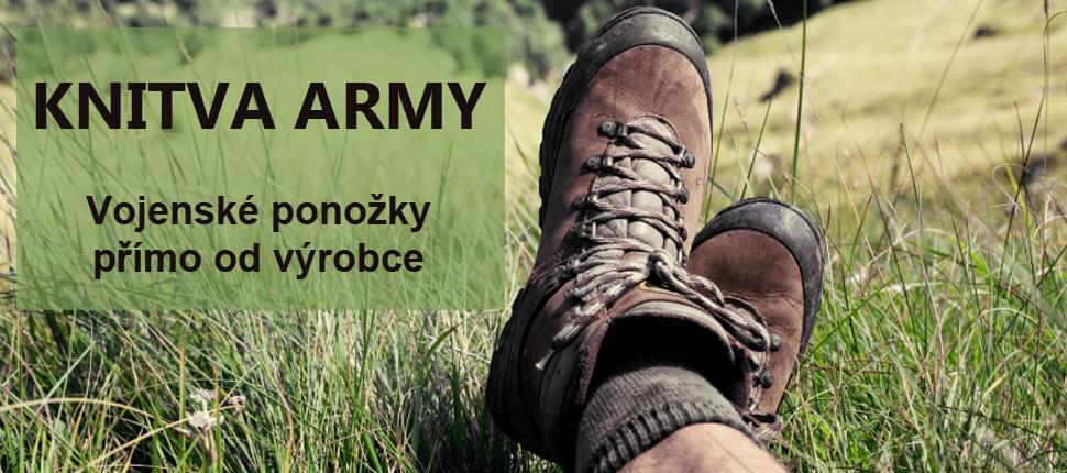 Vojenské ponožky KNITVA Army